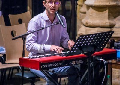 Musicien au clavier