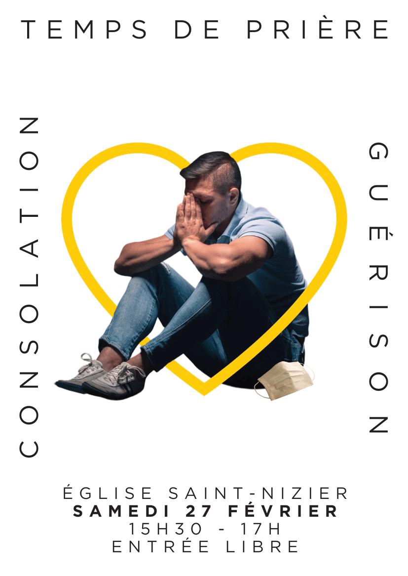 Flyer prière de consolation et de guérison 2021